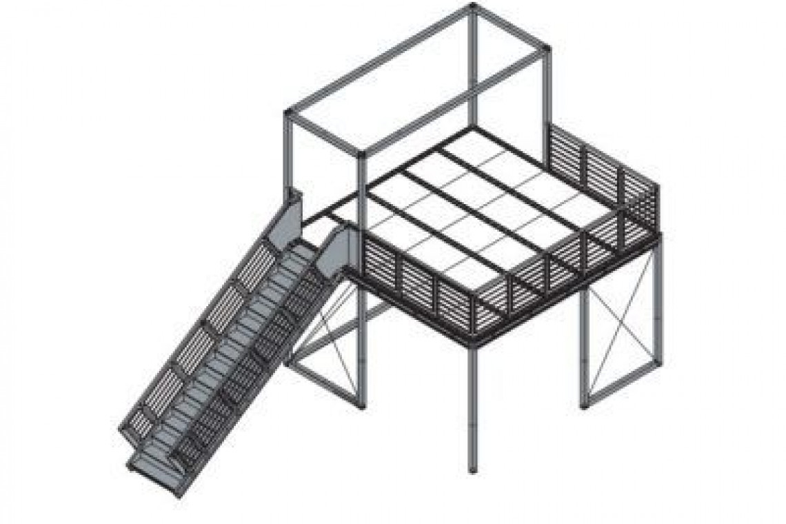 stands doble planta estructura